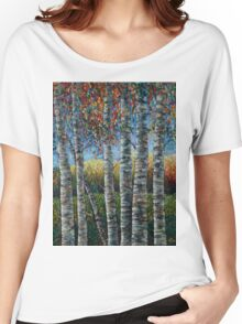 Rocky Mountain High (Palette Knife) by Lena Owens/OLena Art Women's Relaxed Fit T-Shirt
