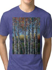 Rocky Mountain High (Palette Knife) by Lena Owens/OLena Art Tri-blend T-Shirt