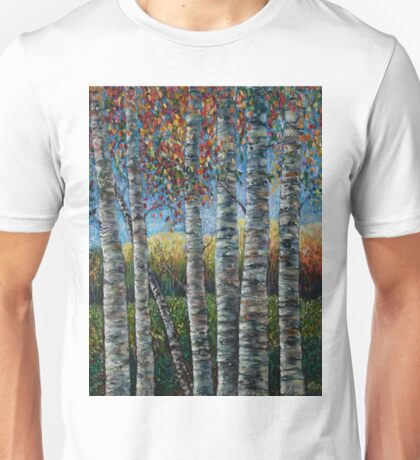 Rocky Mountain High (Palette Knife) by Lena Owens/OLena Art Unisex T-Shirt