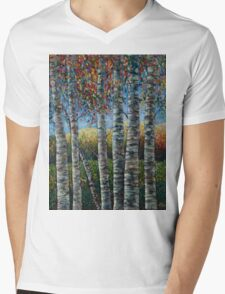 Rocky Mountain High (Palette Knife) by Lena Owens/OLena Art Mens V-Neck T-Shirt