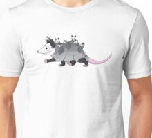 Momma Opossum with Babies - Taking a Walk! Unisex T-Shirt