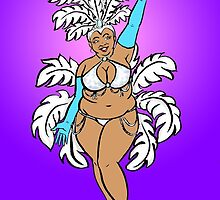 Body Positive Showgirl by Tatiana  Gill