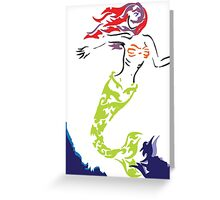 Mermaid out of Water Greeting Card