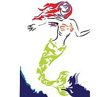 Mermaid out of Water Photographic Print