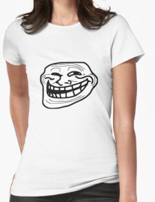 Troll Face Apparel  and Accesories  Womens Fitted T-Shirt