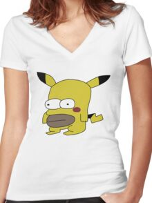 Homerchu Women's Fitted V-Neck T-Shirt