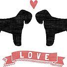 Black Russian Terriers Love by Jenn Inashvili
