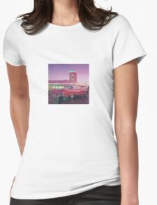 Pink 1959 Cadillac Coupe DeVille Diner Womens Fitted T-Shirt