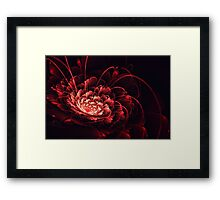 Crimson - 3D Bloom Fractal Framed Print