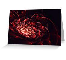 Crimson - 3D Bloom Fractal Greeting Card