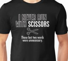 run scissors Unisex T-Shirt