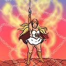 Body Positive Warrior Princess by Tatiana  Gill