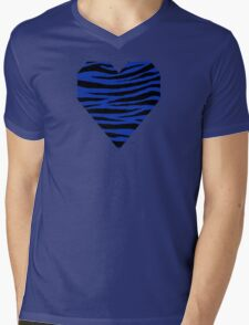 0238 Egyptian Blue Tiger Mens V-Neck T-Shirt