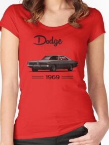 Dodge Charger 69  (black) Women's Fitted Scoop T-Shirt