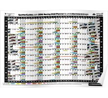 2016 Racing Wall Planner Poster