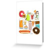 Food Stuffs Greeting Card