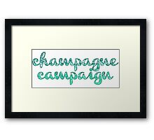 Champagne Campaign Framed Print