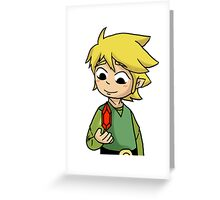 Link with Money Greeting Card