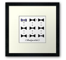Found You At Last! (blue bow tie tux) Framed Print