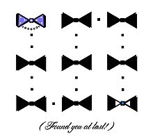 Found You At Last! (blue bow tie tux) Photographic Print