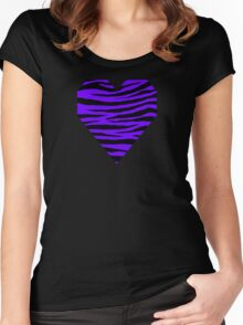 0243 Electric Indigo Tiger Women's Fitted Scoop T-Shirt