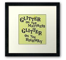 Black Glitter Framed Print