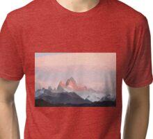 Mountain Low Poly Tri-blend T-Shirt