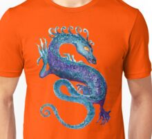 Blue Coiled Dragon Unisex T-Shirt