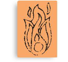 Ember Badge (Stamp) Canvas Print
