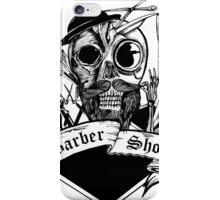 Barber Skull iPhone Case/Skin