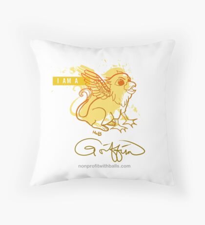 I AM A GRIFFIN (square) Throw Pillow
