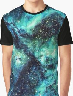 Turquoise Space  Graphic T-Shirt