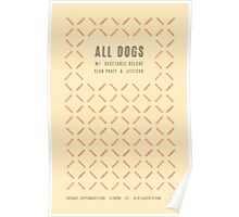 All Dogs @ O'Leaver's Poster
