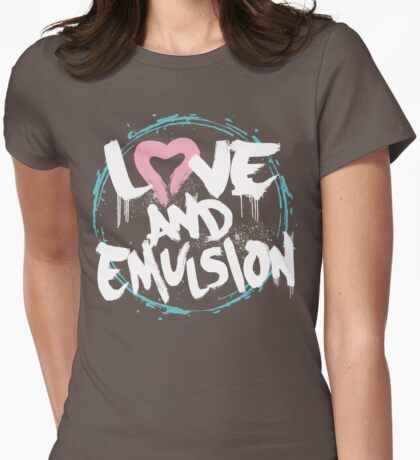 LOVE & EMULSION Womens Fitted T-Shirt