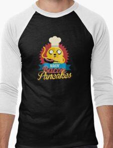 Jake The Dog Making Bacon Pancakes Men's Baseball ¾ T-Shirt