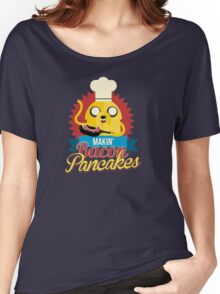 Jake The Dog Making Bacon Pancakes Women's Relaxed Fit T-Shirt