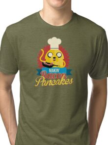 Jake The Dog Making Bacon Pancakes Tri-blend T-Shirt