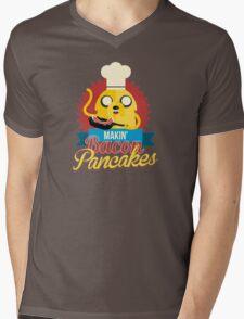 Jake The Dog Making Bacon Pancakes Mens V-Neck T-Shirt
