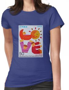 """1994 Japanese Love Stamp"" Womens Fitted T-Shirt"