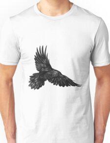 Raven in flight Unisex T-Shirt