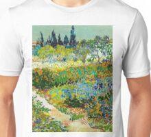 1888-Vincent van Gogh-Garden at Arles, Flowering Garden with Path-88x102 Unisex T-Shirt