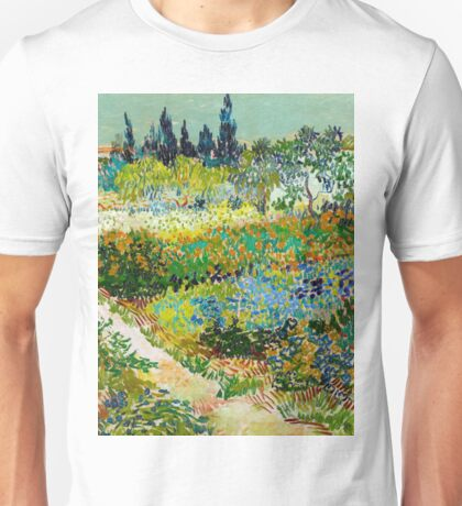 1888-Vincent van Gogh-Garden at Arles, Flowering Garden with Path-88x102 Unisex T-Shirt