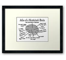 Funny Mortician's Brain Framed Print