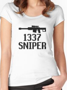 1337 Sniper (Elite) Women's Fitted Scoop T-Shirt