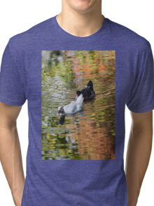 duck on lake Tri-blend T-Shirt