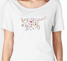 Floral Kitten Women's Relaxed Fit T-Shirt