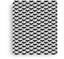 Black & Grey Geometric Pattern Canvas Print