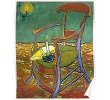 1888-Vincent van Gogh-Gauguin's chair-72,5x90,3 Poster