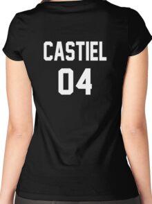 Supernatural Jersey (Castiel Novak) Women's Fitted Scoop T-Shirt
