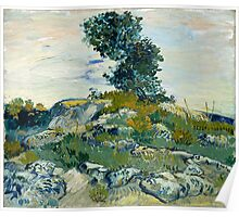1888-Vincent van Gogh-Rocks with Oak Tree-54,94x65,74 Poster
